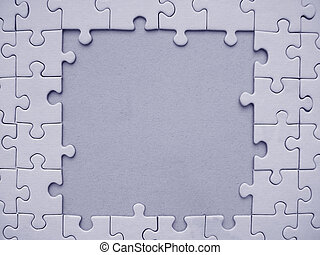 Jigsaw frame - Blue jigsaw frame