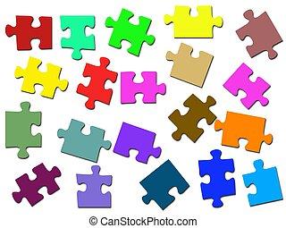 jigsaw, ilustrações