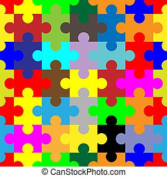 jigsaw, modello, seamless, fondo