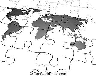 Jigsaw of the world