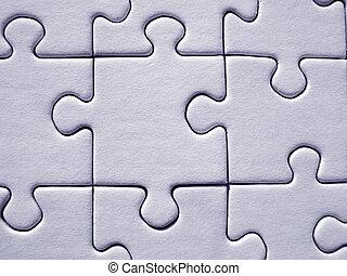 Jigsaw pattern - Blue jigsaw puzzle background