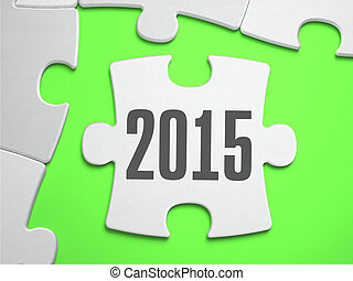 Jigsaw Puzzle 2015 with Missing Pieces.