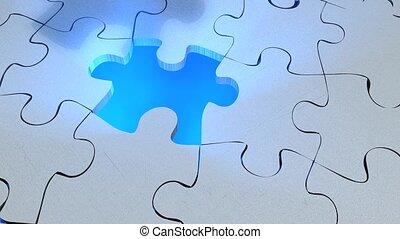 Jigsaw puzzle assembled.