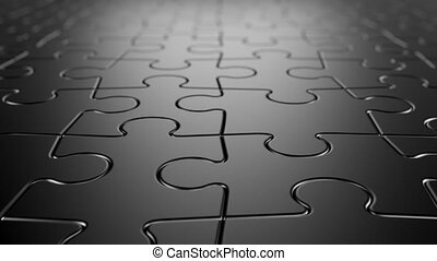 Jigsaw Puzzle Background, Seamless Looping 3d Animation with...