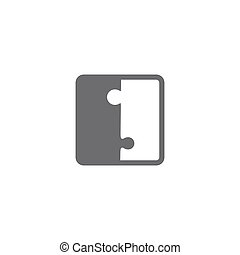 Jigsaw puzzle blank vector pieces