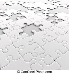Jigsaw puzzle with missing pieces