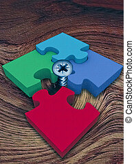 Jigsaw puzzle, Concept