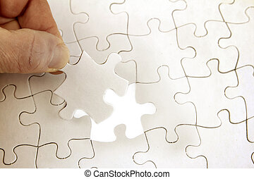Jigsaw puzzle - Final piece of jigsaw puzzle