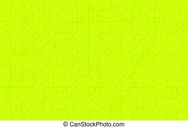 Jigsaw puzzle green color illustration pattern isolated on black background, vector eps10