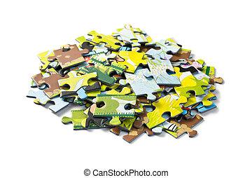 jigsaw puzzle on white background