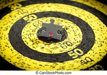 Jigsaw Puzzle Piece on Old Target