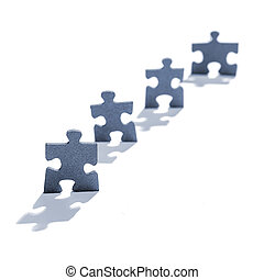 Jigsaw Puzzle Pieces in Shape of People