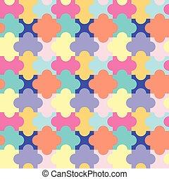 Jigsaw puzzle seamless pattern - Jigsaw seamless pattern....