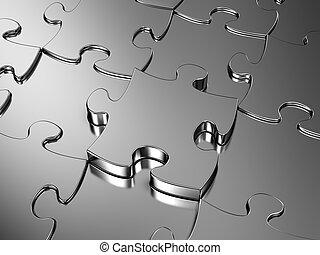Jigsaw puzzle - Blank metal Jigsaw puzzle