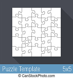 Jigsaw Puzzle Template 25 Pieces