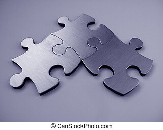 Jigsaw puzzle - Three jigsaw puzzle together