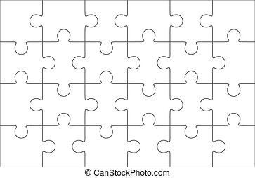 Jigsaw puzzle, twenty four pieces - Jigsaw puzzle blank...
