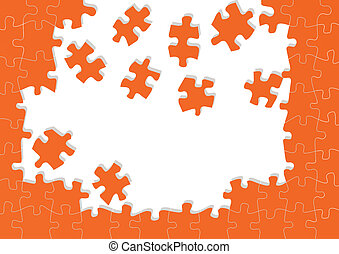 Jigsaw puzzle vector background for poster
