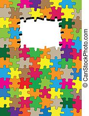 Jigsaw puzzle vector background