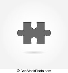 Jigsaw puzzle vector icon - Jigsaw puzzle vector, blank...