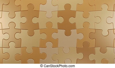 Jigsaw Puzzle Vertical Moving Background, Seamless Looping 3d Animation, 4K Ultra HD