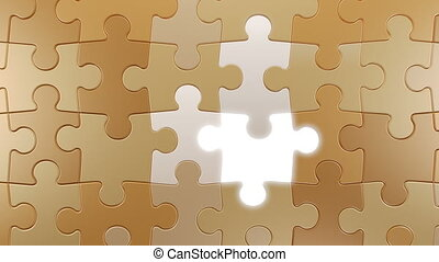 Jigsaw Puzzle Vertical Moving Background with Lighting Elements, Seamless Looping 3d Animation, 4K Ultra HD