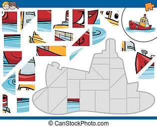 jigsaw puzzle with ship