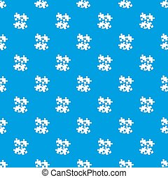 Jigsaw puzzles pattern seamless blue