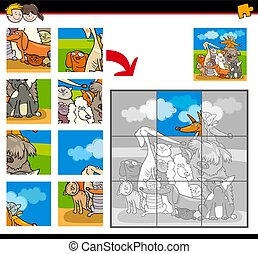 jigsaw puzzles with cats and dogs animals