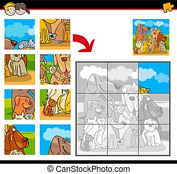 jigsaw puzzles with dogs and cats animals