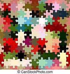 Jigsaw Textile Pattern