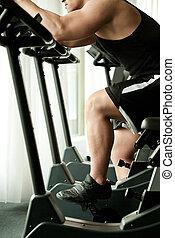 jim, fiets, fitness