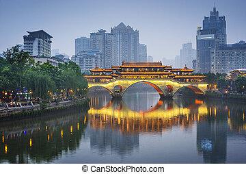 jin, chengdu, folyó, kína