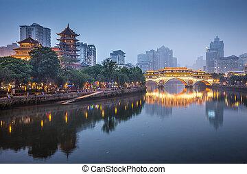 jin, chengdu, río, china