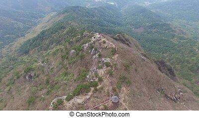 Jindalle Azalea Blossom Blooming in Daegyeon Peak in Biseul...