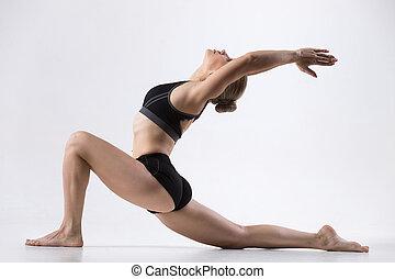 jinete caballo, actitud del yoga
