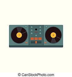 jinete del disco, doble, ilustración, plato giratorio, ...