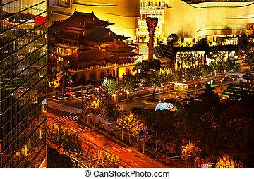 Jing An Temple Park Nanjing Street Shanghai China