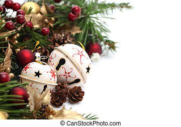 Jingle bell Christmas border - Christmas border with jingle ...