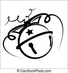 Jingle bell - Vector illustration - Jingle bell on a white...