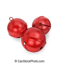 Jingle bells. 3d illustration isolated on white background