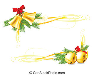 Jingle Bells and Christmas decorative corners made with ...