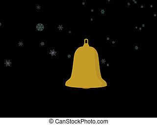 Jingle Bells - Christmas ornament and christmas bell on a...