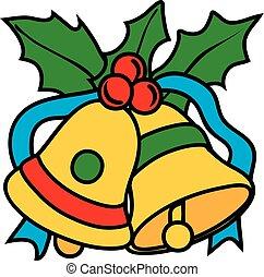 Jingle Bells Icon - Vector illustration of a jingle bells...