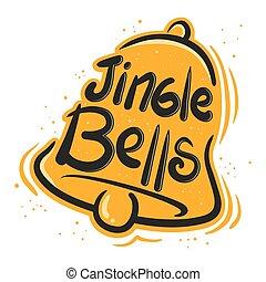 Jingle Bells Illustration - Jingle bells greeting in paint...