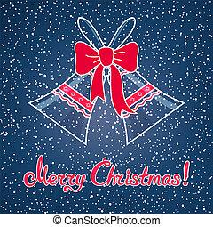 Jingle Bells on on Dark Blue Background