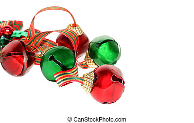 Jingle Bells - Red and green jingle bells on christmas ...
