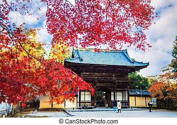 Jingo-ji is a Buddhist temple in Kyoto - Kyoto, Japan -...