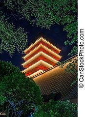 Jinhea Tower at Night