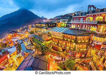 jiufen, 台湾, 山坡, 村庄
